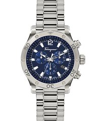 time sport stainless steel chrono watch