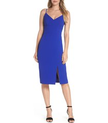women's eliza j sleeveless cocktail dress, size 14 - blue