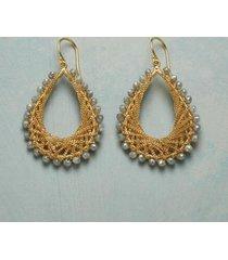 sundance catalog women's lace & light diamond earrings