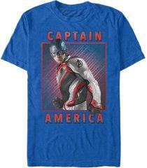 marvel men's avengers endgame captain america portrait, short sleeve t-shirt
