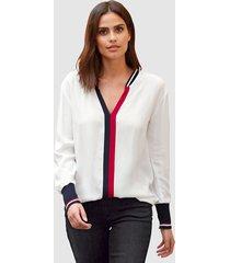 blouse alba moda offwhite::rood::marine