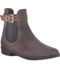 dav glasgow suede waterproof women's rain bootie women's shoes