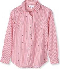 blusa star print mujer rosa gap