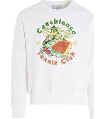 casablanca casablanca hibiscus sweatshirt
