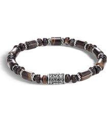 men's john hardy classic chain bead banded agate bracelet
