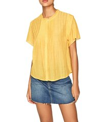 blusa amarillo pepe jeans