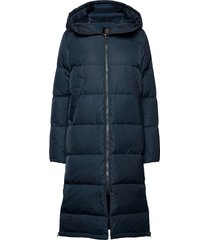 biella w coat gevoerde lange jas blauw 8848 altitude