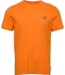 crew neck t-shirt t-shirts short-sleeved orange lyle & scott