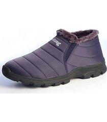 casual stivaletti da neve alla caviglia slip-on con suola morbida impermeabili caldi
