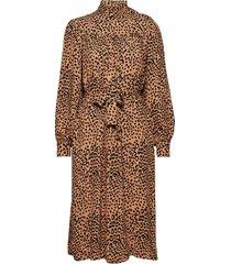 linda dress knälång klänning brun nué notes