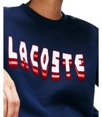 lacoste brushed fleece logo sweatshirt