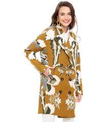 abrigo desigual amarillo - calce regular