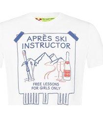 après ski instructor white t-shirt