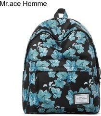 mochila de la moda de la mochila de la universidad de-negro
