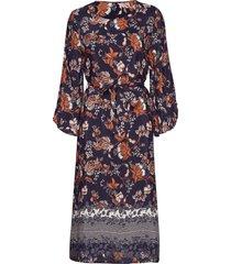 kamalina dress knälång klänning multi/mönstrad kaffe