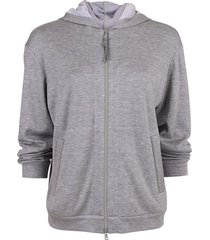 hooded zip-up spa jacket