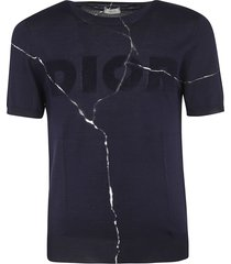dior homme distressed logo top