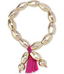 pulseira luxor cor: rosa pink - tamanho: único