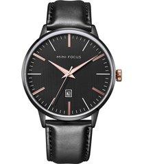 reloj análogo f0115gl-3 hombre negro
