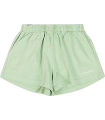 classic logo disco shorts honeydew green