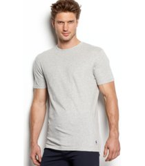 polo ralph lauren men's undershirt, slim fit classic cotton crews 3 pack