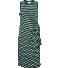 softspun tie-front midi dress knälång klänning grön gap