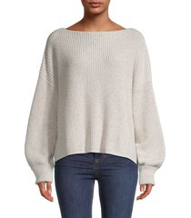 french connection women's millie mozart cotton sweater - navy - size l