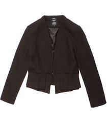 blazer jacquard peplum para mujer - negro