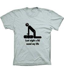 camiseta lu geek manga curta dj saved life prata