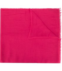 faliero sarti sheer raw edge scarf - pink