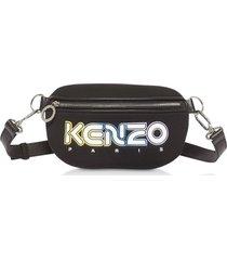kenzo designer handbags, black neoprene kombo belt bag
