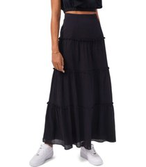 1.state women's tiered maxi skirt