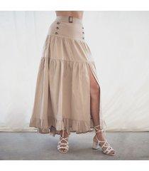 falda julia caqui