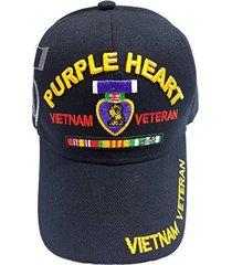 us military purple heart medal vietnam veteran cap (black)