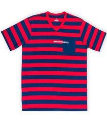 camiseta manga corta diseño a rayas regular fit para hombre 9778988