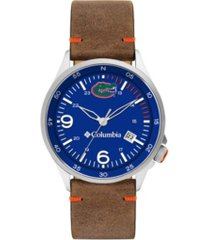 columbia men's canyon ridge florida saddle leather watch 45mm