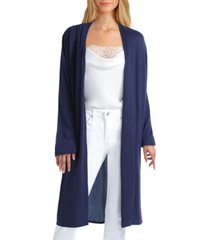women's mix media pleat neck cardigan