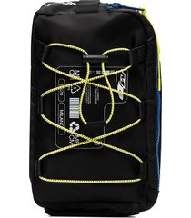 marcelo burlon county of milan logo patch lace-up crossbody bag -
