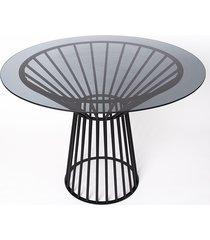 stół sticks metalowy szklany 110cm jedna noga
