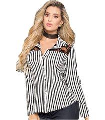 blusa para mujer bicolor mp 58279.