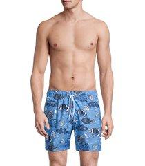 trunks surf + swim men's sano printed swim shorts - horizon blue - size xxl
