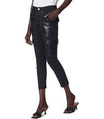 joie women's okana cropped skinny pants - caviar - size 23 (00)