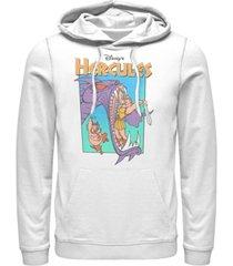 disney men's hercules hydra battle retro, pullover hoodie