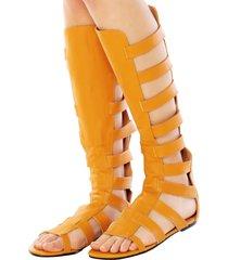 rasteira milaa gladiadora alta amarela