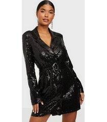 nly trend fabulous sequin suit dress paljettklänningar svart