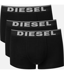 diesel men's damien three pack boxer shorts - black - xl