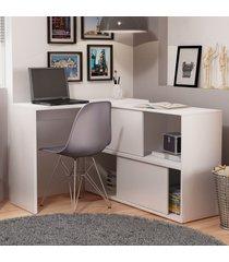 mesa para computador 2 portas bc 44-06 branco - brv móveis