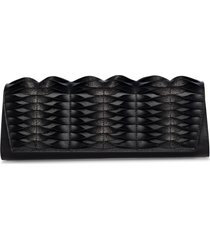 akris anouk twisted leather clutch - black