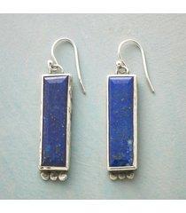 lapis pillar earrings