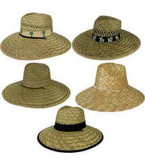 summer spring straw turtle palm tree wide brim hat beach gardening uv protect